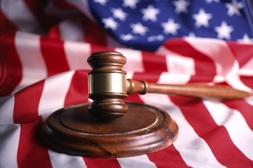 Gavel on an American Flag